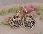 ROSALIE 1905 Spoon Jewelry Petite Earrings Antique Silverware Jewelry STERLING Silver Ear Wires Keepsake Gift Under 30 Ready To Ship
