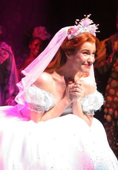 Sierra Boggess as Ariel in her opening night curtain call for The Little Mermaid on Broadway