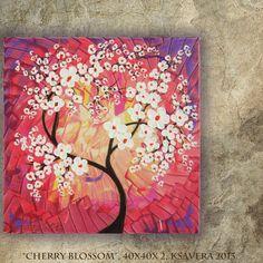 FREE SHIPPING Acrylic #Painting #sakura Cherry Blossom Tree by KsaveraART, €47.00