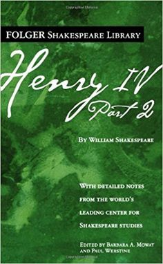 AmazonSmile: Henry IV, Part II (Folger Shakespeare Library) (9780743485050): William Shakespeare, Dr. Barbara A. Mowat, Paul Werstine Ph.D.: Books