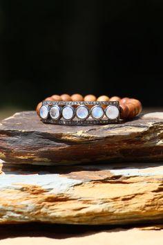 Moonstone Diamond Connector Bar on by HappyGoLuckyJewels on Etsy