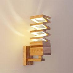 Arturest Wooden Natural Color Wall Lamp, Home Decoration Wooden Lighting, Handmade Craft Decor, Wabi Sabi Light Creative Lamps, Unique Lamps, Wooden Ceilings, Wooden Walls, Handmade Lamps, Room Lamp, Wooden Lamp, Wabi Sabi, Wall Colors