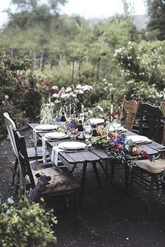 .Gather in the garden