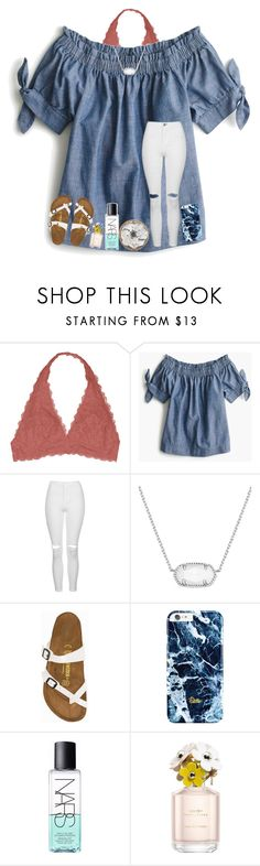 """just you & me"" by arieannahicks on Polyvore featuring Youmita, J.Crew, Topshop, Kendra Scott, Birkenstock, NARS Cosmetics and Marc Jacobs"