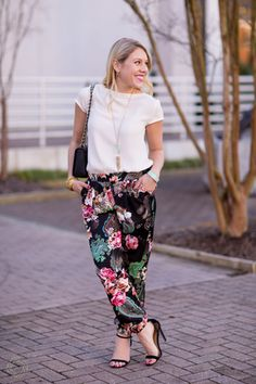Floral Pants | @stylesouffle