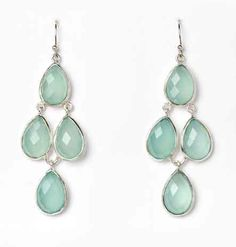 The Petola Earring in Aqua Chalcedony by PAZ COLLECTIVE