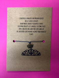 A personal favorite from my Etsy shop https://www.etsy.com/listing/257589244/princess-wish-bracelet