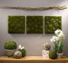 Moss Wall Art - Zen Style | Click Pic for 36 DIY Wall Art Ideas for Living Room | DIY Wall Decorating Ideas for the Home