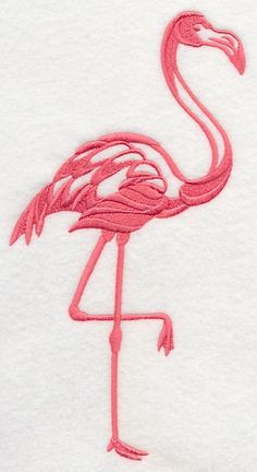 Flamingo Silhouette design (J9422) from www.Emblibrary.com
