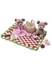 Teddy Bear Picnic Crochet Pattern Download from AnniesCatalog.com -- Set your little one for hours and hours of fun!