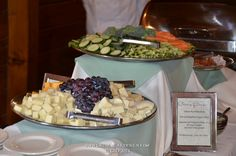 Cheese and Fruit, Fresh marinated vegetables