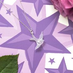 Frosted Swallow Tattoo Pendant
