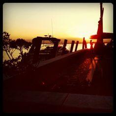 sunset in venice lagon