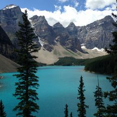 Lake moraine Canada- absolutely loved this vacation
