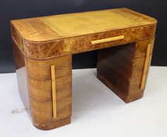 English art deco desk,  vintage 1930s.   Love the clean lines,  seamless visual impression, and subtle tonal variation.