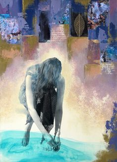 Lisa Agaran is a Los Angeles-born mixed media artist. This piece is titled 'River Solace'. You can view more of Lisa's work through her website. Images courtesy of Lisa Agaran
