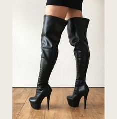 color: as shown or custom color material: synthetic material MADE TO ORDER (NOT IN STOCK) - crotch hi platform boots - your leg measurements are required to make the boots (see photo slide for measuring points). - tall platform heel - front sole is Latex Cosplay, Botas Sexy, Sexy Boots, Shoe Closet, Platform Boots, Knee High Boots, Runway, Booty, Legs