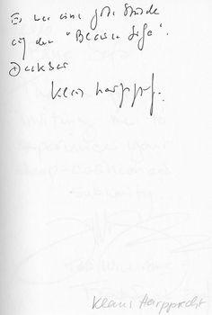 Klaus Harpprecht im Gästebuch vom Blauen Sofa