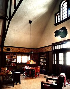 Interior of Crabtree Farms, Illinois, designed by Harvey Ellis