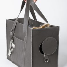 lola bag leather dog carrier: Bitch New York - Designer Dog Carriers, Designer Dog Clothing