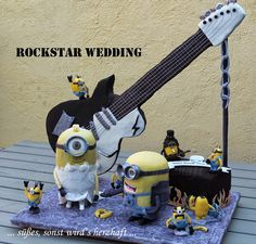 Rockstar ♫ Minions Minion Cake, Minion Torte