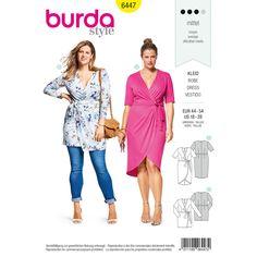 Burda  Burda Style Pattern B6447 Women's Mock-Wrap Dress sewing pattern