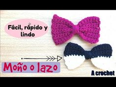 Moño o lazo a crochet Fácil, rápido y Lindo/Ganchillo/ crochet tie - YouTube Crochet Bow Pattern, Crochet Bows, Crochet Crop Top, Crochet Clothes, Crochet Hair Accessories, Crochet Hair Styles, Baby Knitting Patterns, Lily, Homemade