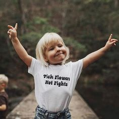 'Pick Flowers Not Fights' Tee | The Bee & The Fox on Etsy