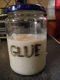 UPDATE : I've added an extra ingredient to my glue recipe -- liquid starch -- to act as a hardener and binding agent. The previous recipe w...