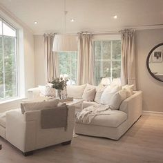 Top Neutral Living Room Colors You Can Choose - Interior Design Ideas & Home Decorating Inspiration - moercar Comfortable Living Rooms, Cozy Living Rooms, New Living Room, Apartment Living, Home And Living, Living Spaces, Small Living, Modern Living, Neutral Living Rooms