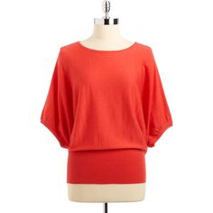 Lord & Taylor Merino Dolman Sleeve (85 BRL) ❤ liked on Polyvore featuring tops, sweaters, oversized pullover sweater, scoop neck top, red oversized sweater, dolman sleeve sweater and red pullover sweater