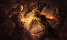 dragon age fan art | hong 16 fantasy art paintngs by marc simonetti colorful vector art ...