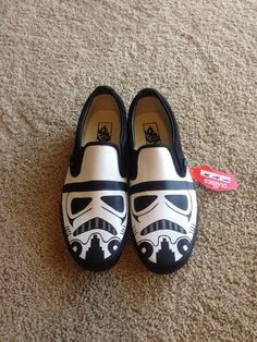 Hand-painted Stormtrooper Vans or here as well for TOMS - http://media-cache-ak0.pinimg.com/originals/0a/63/06/0a63067a6dfd0b5cfa0a6318131bfd51.jpg
