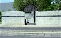 The Umschlagplatz is located in Warsaw on Stawki Street. This memorial marks the Umschlagplatz, the deportation site for residents of the Warsaw Ghetto.