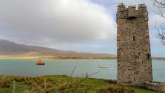 Kildamhnait Castle is tower house associated with the O'Malley Clan, who were once a ruling family of Achill and attributed to the famous Pirate Queen Grace O'Malley. Grace O'malley, Famous Pirates, County Mayo, Tower House, Ireland Travel, Photo Art, Scenery, Island, Pirate Queen