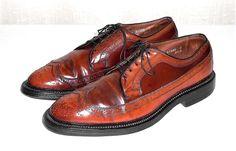 Allen Edmonds MacNeil Vtg Men's Brown Leather Wing Tip Brogue Oxford USA  9.5 D #AllenEdmonds #WingTipBrogueOxford