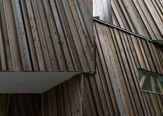 Sandwich used three truckloads of timber to create the sculptural facade of this Tokyo house that also boasts a two-storey-high library and an indoor swing