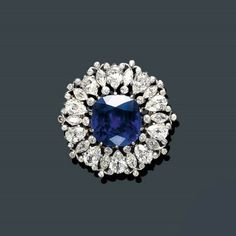 AN IMPORTANT BELLE EPOQUE SAPPHIRE AND DIAMOND BROOCH, TIFFANY & CO.  Price realised  USD 420,500 Estimate  USD 150,000 - USD 200,000