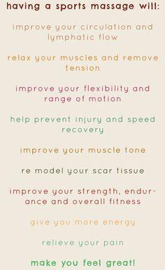 benefits to sports massage