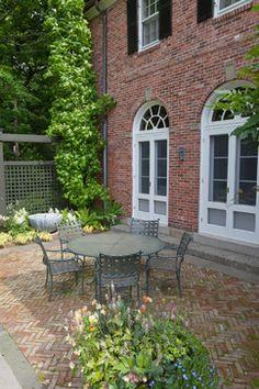 Love the brick patio color!!  Warren Estate - traditional - patio - boston - Matthew Cunningham Landscape Design LLC