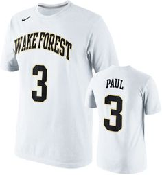 9ebcc883f798 ... NCAA Wake Forest Demon Chris Paul Wake Forest Demon Deacons Nike 3  White Replica Player T-Shirt ...