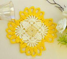Crochet Crafts, Crochet Doilies, Crochet Flowers, Applique Quilt Patterns, Embroidery Patterns, Crochet Patterns, Crochet Squares, Crochet Granny, Crochet Kitchen