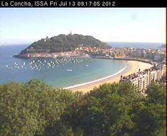 Haz click para ver la webcam de la Concha en directo