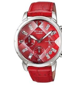 Casio SHEEN Analog watch (Red Wrist with Red Dial)
