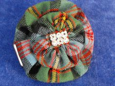 Hand Made Tartan Hair Clip with Crystal Stone Embellishment by Tartan Bling