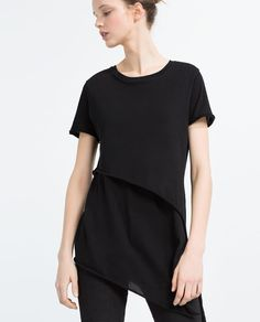 Image 2 of ASYMMETRIC T-SHIRT from Zara