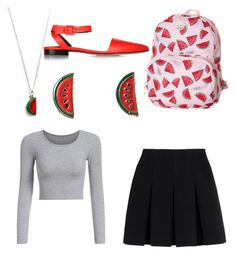 """Watermelon"" by lizzylyn on Polyvore featuring Alexander Wang, Roxy and Tallulah's Threads"