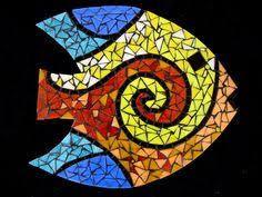 Adorno Peixe Decorativo de parede - Mimos para casa no Mosaic Rocks, Mosaic Stepping Stones, Mosaic Tile Art, Mosaic Crafts, Mosaic Projects, Mosaic Glass, Mosaic Animals, Mosaic Birds, Mosaic Designs
