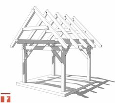 10×12 Post and Beam Shed Plan -http://timberframehq.com/?post_type=product&p=3992&preview=true