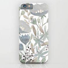 Blue Flowers iPhone & iPod Case | Julianna Swaney on society6